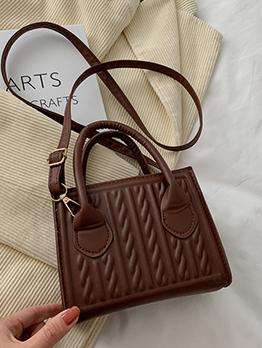 Korean Pure Color White Women Shoulder Bag Handbags