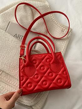Embossing Solid Geometric Shoulder Bags Handbag For Women